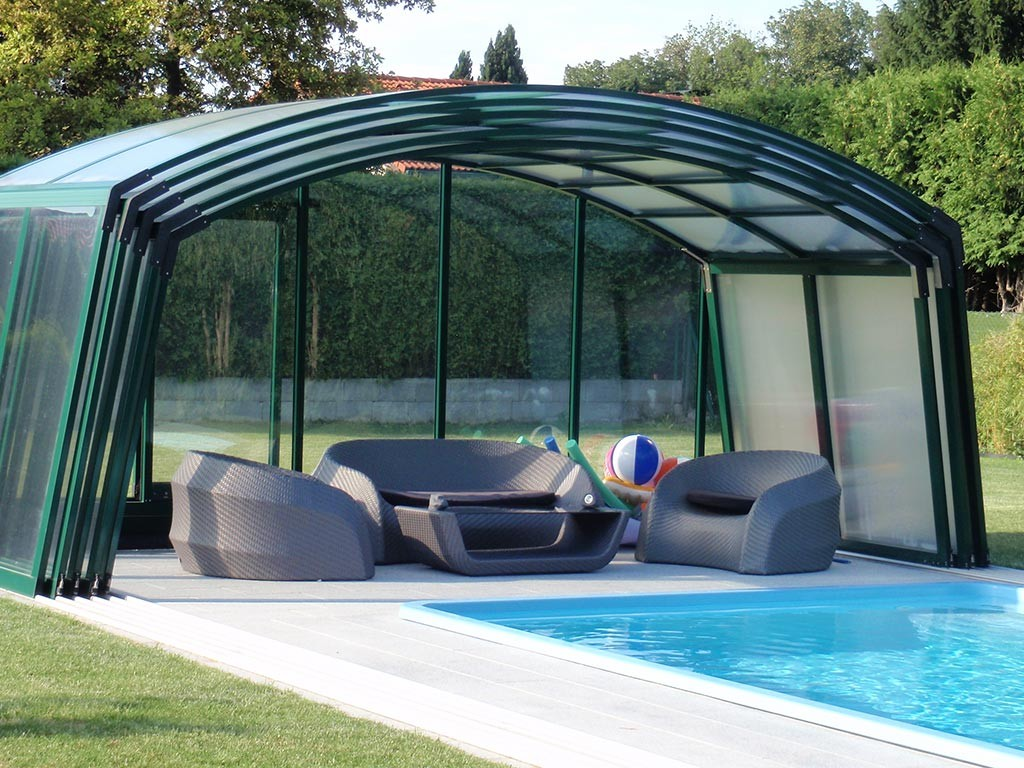 B M Poly Pool Pools Schwimmbecken Pooluberdachung Mit
