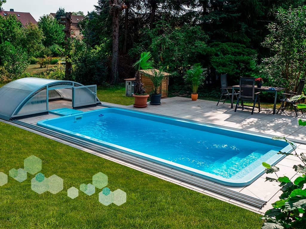 Pool Teneriffa 6T mit Pooldach Standard
